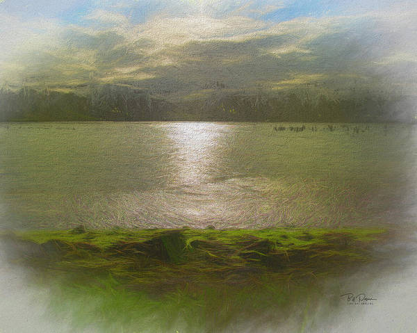 Mixed Media - Lake Morning Dreams by Bill Posner