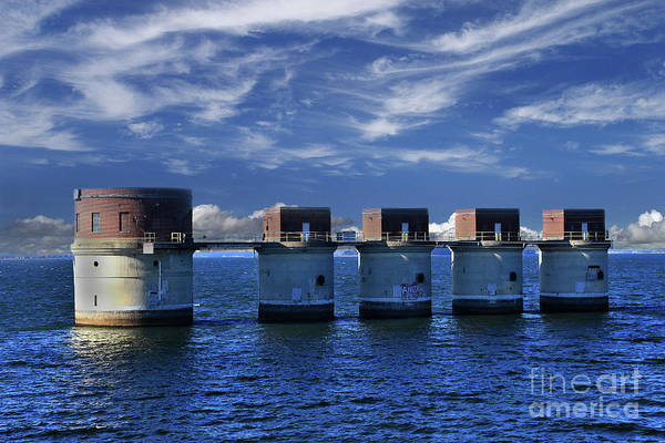 Wall Art - Photograph - Lake Murray Take Out Towers by Skip Willits