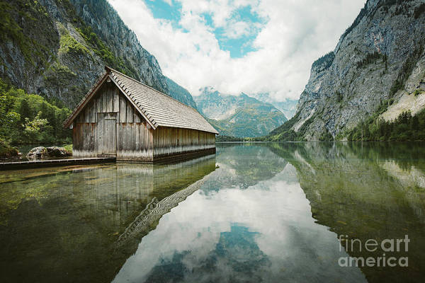 Wall Art - Photograph - Lake Obersee Boat House by JR Photography