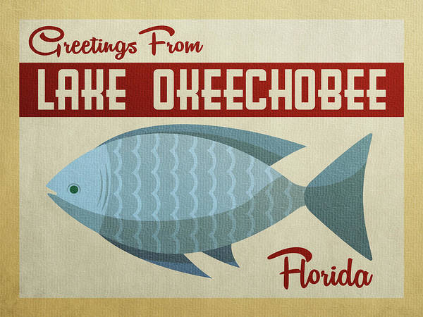 Lake Okeechobee Wall Art - Digital Art - Lake Okeechobee Florida Blue Fish by Flo Karp
