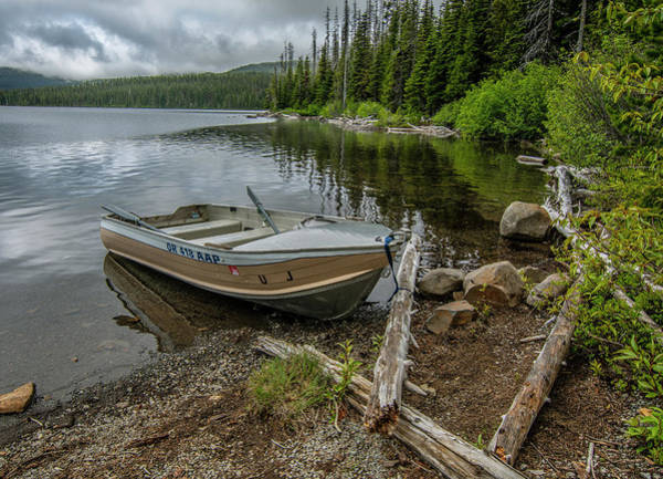Photograph - Lake Olalie Boat  by Matthew Irvin