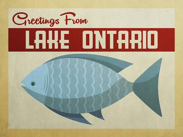 Great Lakes Digital Art - Lake Ontario Blue Fish by Flo Karp