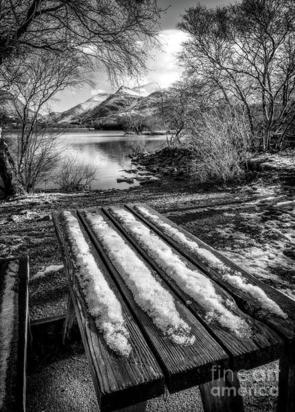 Wall Art - Photograph - Lake Padarn Bench  by Adrian Evans