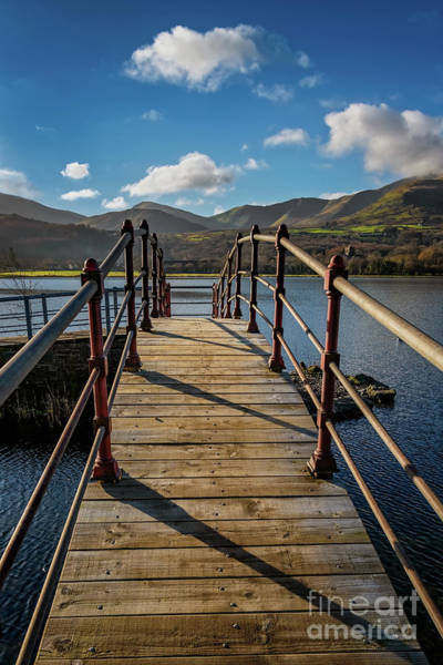 Wall Art - Photograph - Lake Padarn Footbridge by Adrian Evans