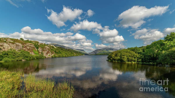 Wall Art - Photograph - Lake Padarn Llanberis Wales by Adrian Evans