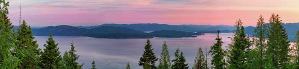 Photograph - Lake Pend Oreille Panoramic Sunrise. by Leland D Howard