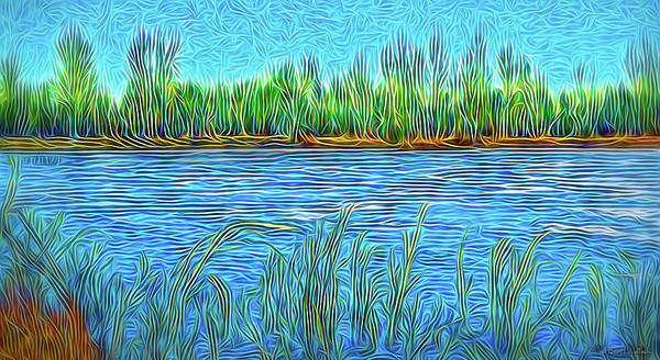 Digital Art - Lake Reed Meditation by Joel Bruce Wallach