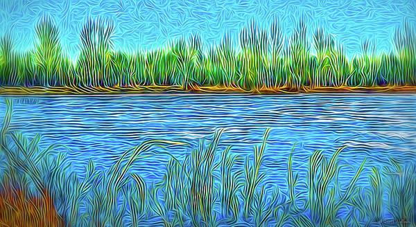 Digital Art - Lake Reed Meditation by Joel Bruce Wallach