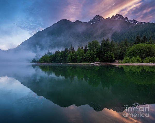 Wall Art - Photograph - Lake Reflection Cascading Diagonals by Mike Reid