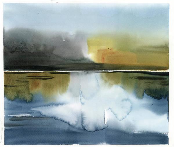 Wall Art - Painting - Lake Scape by Sophia Rodionov