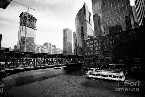Wall Art - Photograph - Lake Street Bridge The Chicago Rive At Wolf Point Chicago Il Usa by Joe Fox