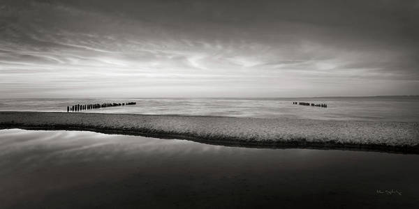 Lake Superior Wall Art - Photograph - Lake Superior Beach Iv Bw by Alan Majchrowicz