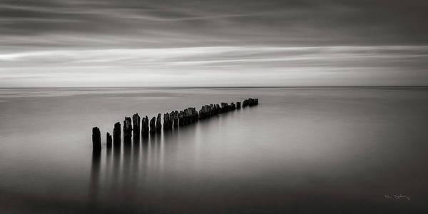 Lake Superior Wall Art - Photograph - Lake Superior Old Pier IIi by Alan Majchrowicz