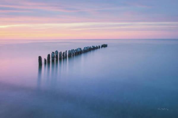 Lake Superior Wall Art - Photograph - Lake Superior Old Pier Iv by Alan Majchrowicz
