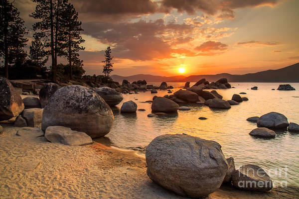 Wall Art - Photograph - Lake Tahoe At Sunset by Topseller