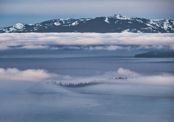 Photograph - Lake Tahoe Inversion by Martin Gollery