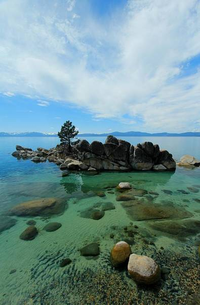 Photograph - Lake Tahoe Summer Waterscape by Sean Sarsfield