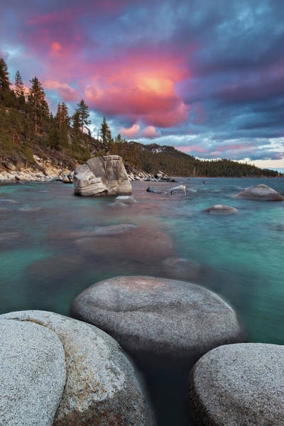 Lake Tahoe Photograph - Lake Tahoe Sunset by Ropelato Photography; Earthscapes