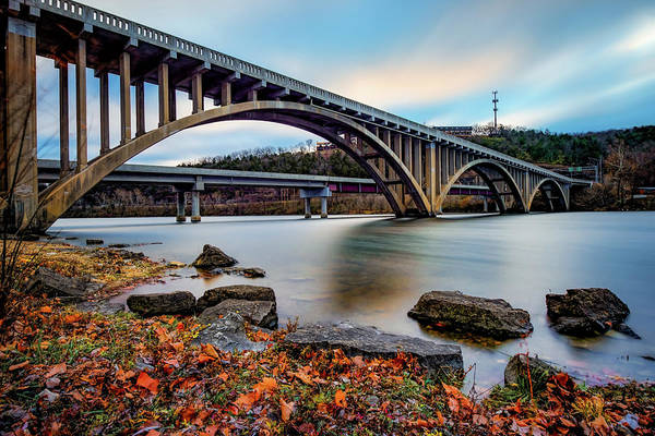 Photograph - Lake Taneycomo Bridge  - Branson Missouri by Gregory Ballos
