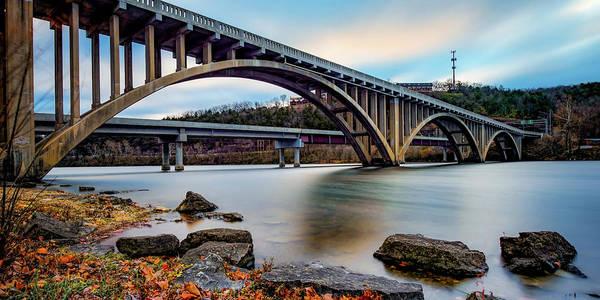 Photograph - Lake Taneycomo Bridge Panorama - Branson Missouri by Gregory Ballos