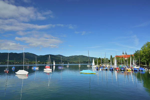Cloister Photograph - Lake Tegernsee With Sailing Boats And by Andreas Strauss / Look-foto
