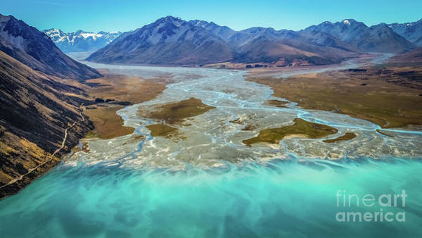 Photograph - Lake Tekapo And Southern Alps, New Zealand by Lyl Dil Creations