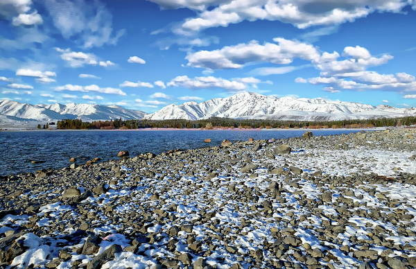 Photograph - Lake Tekapo Landscape by Anthony Dezenzio