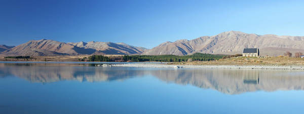 Turquoise Lake Photograph - Lake Tekapo Reflection by Simonbradfield