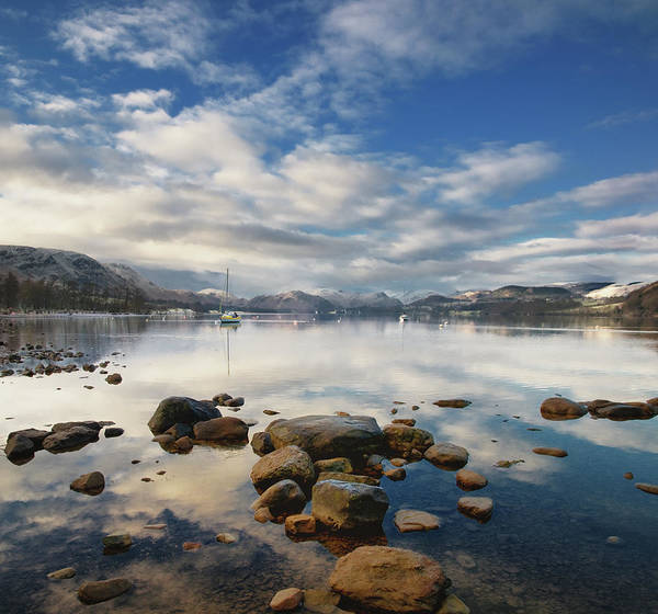 Ullswater Photograph - Lake Ullswater In Winter by Laurence Cartwright Photography