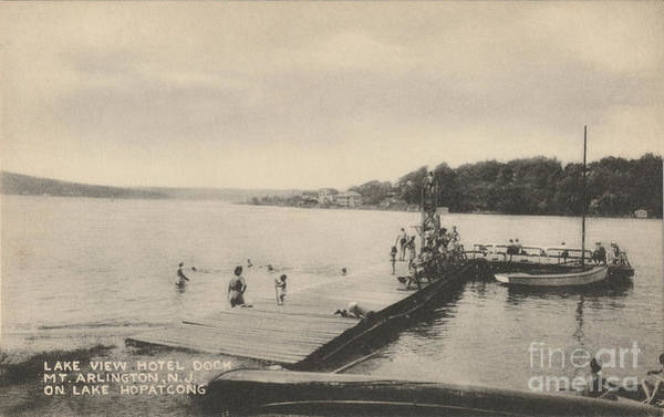 Photograph - Lake View Hotel Dock On Lake Hopatcong by Mark Miller
