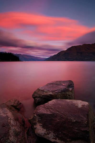 Lakes Region Photograph - Lake Wakatipu At Dusk by Simonbradfield