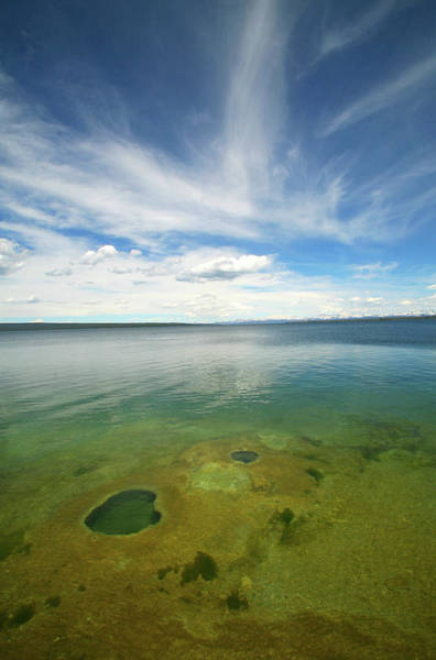 June Photograph - Lake Yellowstone In Yellowstone by David Epperson