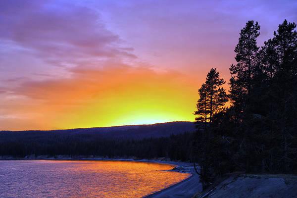 Wall Art - Photograph - Lake Yellowstone Sunset by Mitch Cat