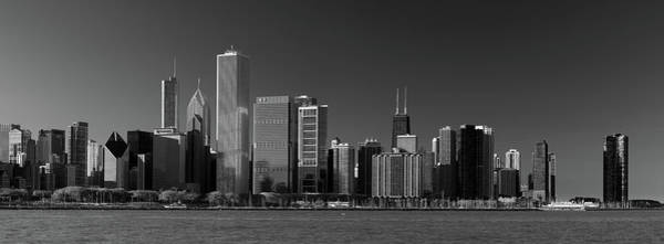 Wall Art - Photograph - Lakefront Chicago B W by Steve Gadomski