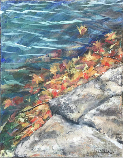 Wall Art - Painting - Lakes Edge by Manuela Woolsey