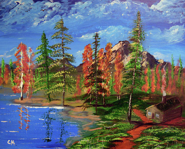 Painting - Lakeside Cabin by Chance Kafka