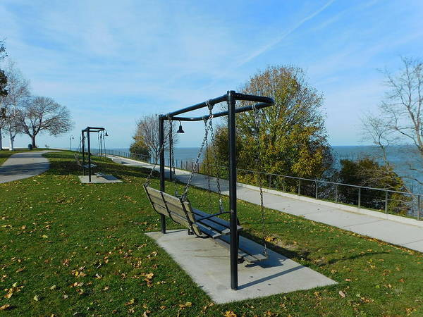 Park Bench Digital Art - Lakewood Park 5 by Charles Pegg