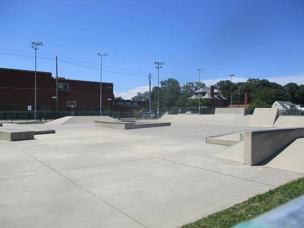 Park Bench Digital Art - Lakewood Park Skatepark 2 by Charles Pegg