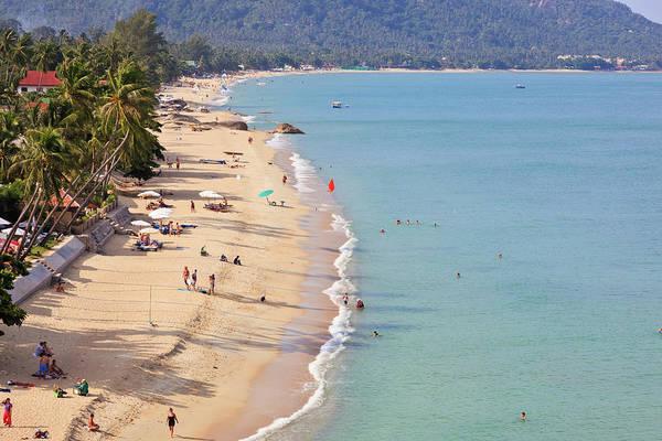 Beach Holiday Photograph - Lamai Beach On Koh Samui by Tom Bonaventure