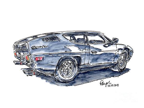 Lamborghini Drawings Fine Art America
