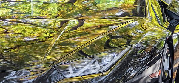 Photograph - Lamborghini Fall Reflections by Keith Smith