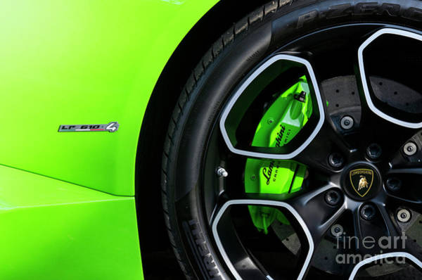 Photograph - Lamborghini Huracan Abstract by Tim Gainey