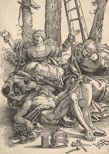 Christ Drawing - Lamentation For Christ, 1510  by Hans Baldung Grien