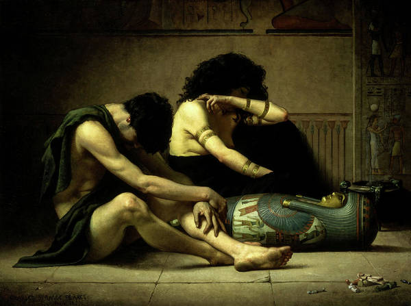 Wall Art - Painting - Lamentations Over The Death Of The First-born Of Egypt, 1877 by Charles Sprague Pearce