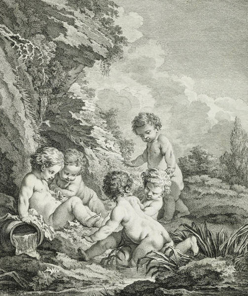 Boucher Wall Art - Painting - L'amour Nageur, 1771 by Francois Boucher