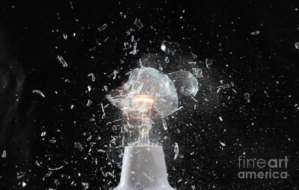 Electric Wall Art - Photograph - Lamp Crash by Antiks