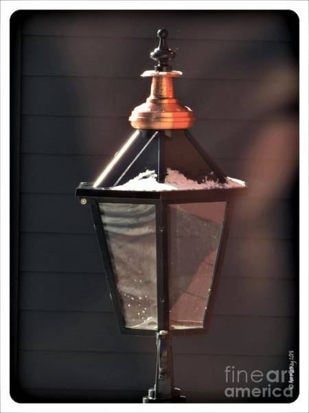 Photograph - Lamp In Winter by Art MacKay