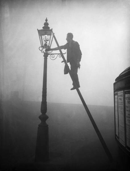 Ladders Photograph - Lamp Lighting by E Dean