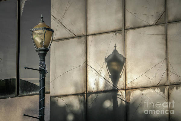 Photograph - Lamppost Shadow by Tom Claud