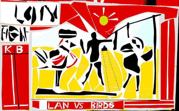 Digital Art - Lan Vs Birds 1 by Artist Dot